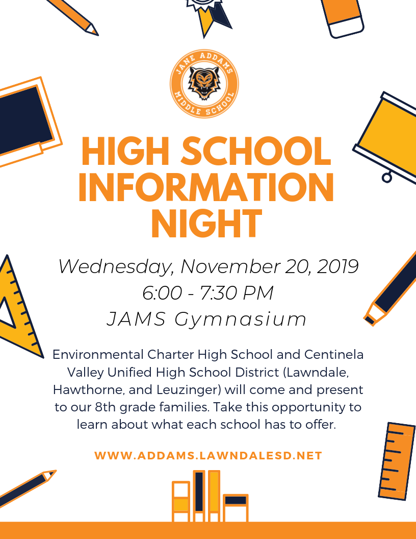 High School Info Night Flyer